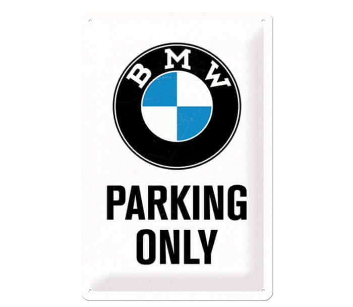 Postershop cedule BMW Parking only
