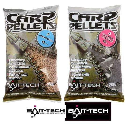 Bait-Tech Pelety Hallibut Carp Feed Pellets 4mm, 2kg