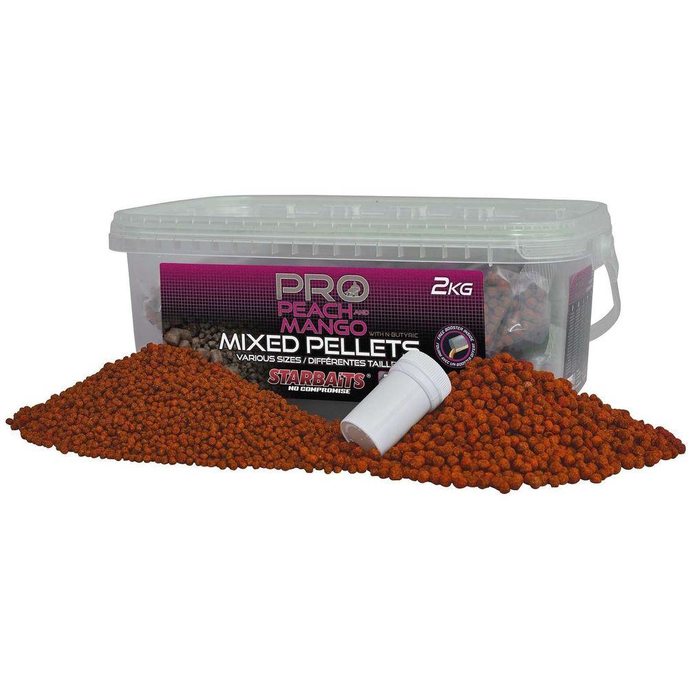 Starbaits Pro Peach & Mango - Pelety 2Kg mix