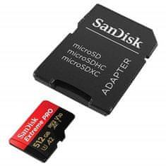 SanDisk Extreme Pro spominska kartica microSDXC 512 GB, adapter