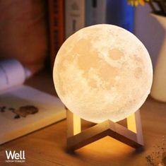 Well 3D MOON LED namizna nočna svetilka - Odprta embalaža