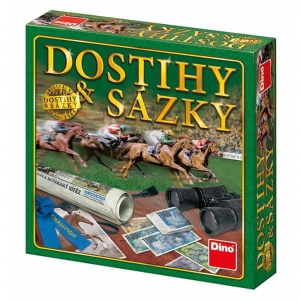 Dino Dostihy a sázky NOVÉ společenská hra v krabici 29,5x29,5x7cm