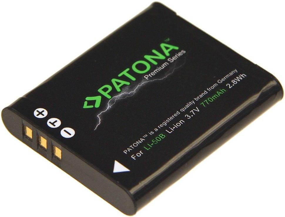 PATONA Baterie pro foto Olympus Li-50B 770mAh Li-Ion Premium (PT1199)