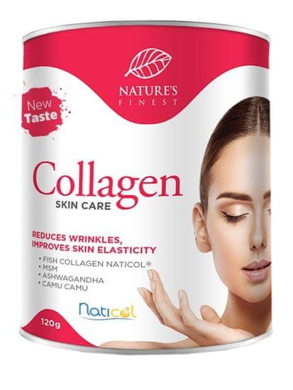 Nature's finest Collagen SkinCare prehransko dopolnilo s formulo Naticol, jagoda, 120 g