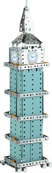 Teddies sestavljiv kovinski Big Ben, 502 kosov, 26x36x6 cm