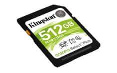 Kingston SDXC Canvas Select Plus pomnilniška kartica, 512 GB 100/85 MB/s (r/w), C10, UHS-I, U1, V10