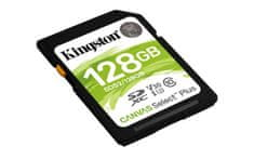 Kingston SDXC Canvas Select Plus pomnilniška kartica, 128 GB 100/85 MB/s (r/w), C10, UHS-I, U1, V10