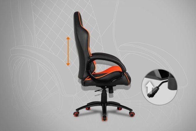 kovová konstrukce pětiramenný kříž plastové krytky ergonomická židle