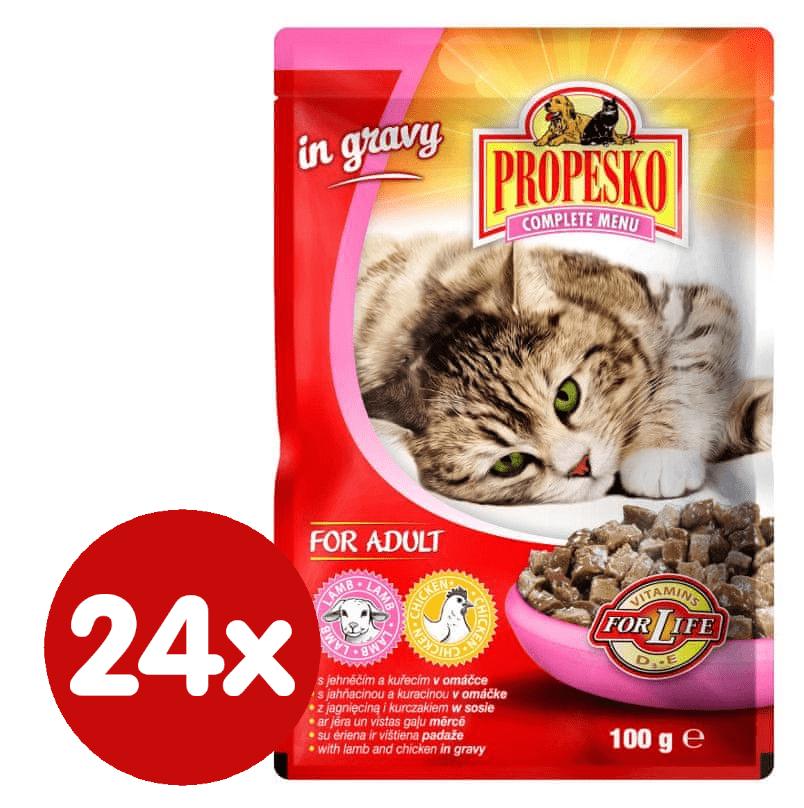 Propesko kapsa kočka jehně+kuře 24 x 100g