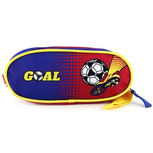 Goal Školní penál , elipsovitý, modro-červený