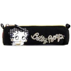 Betty Boop Školský peračník , oválny, čierny so zlatým zipsom