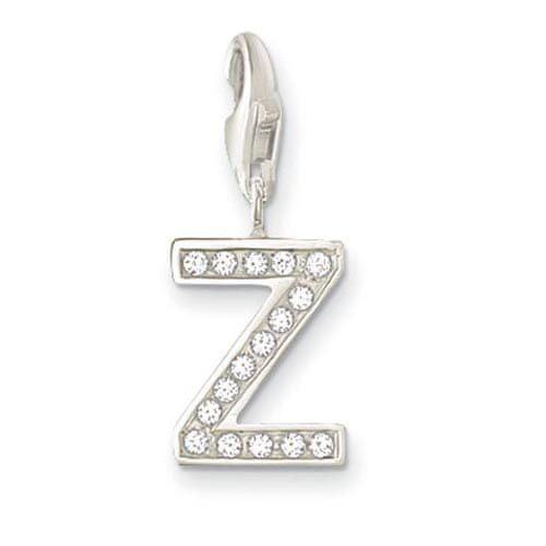 """Thomas Sabo Prívesok """"Písmeno Z"""" , 0248-051-14, Charm Club, 925 Sterling silver, zirconia white"""