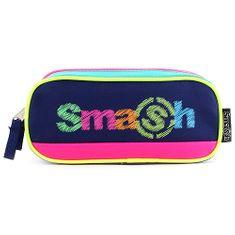 Smash Šolska škatla za svinčnike brez polnila, zelena / temno modra