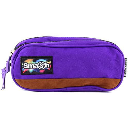 Smash Školský peračník bez náplne , fialový, 2 vrecká