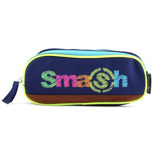 Smash Šolska škatla za svinčnike brez polnila, 2 žepa, temno modra / svetlo modra