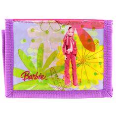Barbie pénztárca, rózsaszín / lila, baba motívummal