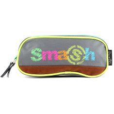 Smash Šolska škatla za svinčnike brez polnila, 2 žepa, zelena / siva