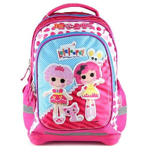 Lalaloopsy Školský plecniak , motív bábik, ružový