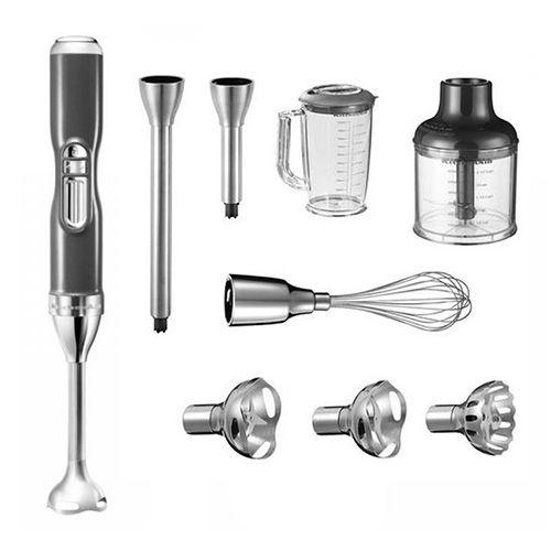 KitchenAid Tyčový mixér , 5KHB3581EMS, 180 W, bezdrátový, stříbřitě šedá