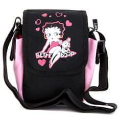 Betty Boop Kabelka cez plece , ružovo/čierna, s motívom bábiky