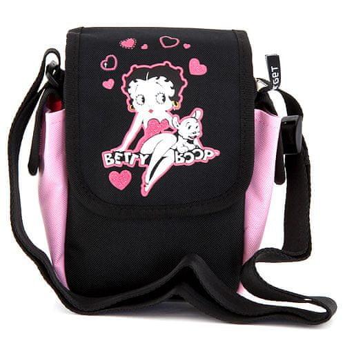 Betty Boop Kabelka přes rameno , růžovo/černá, s motivem panenky
