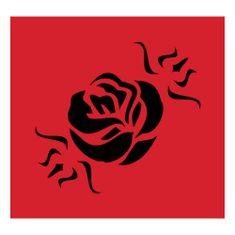 Eulenspiegel Szablon samoprzylepny , Szablon samoprzylepny - kwiat róży