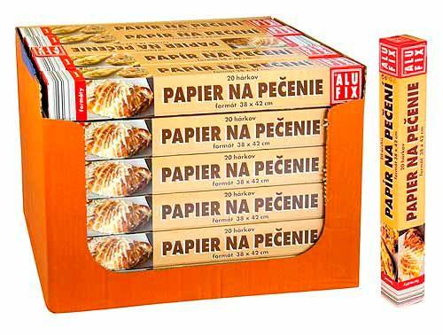 Bobo Papír na pečení, Papír na pečení - formáty 38x42cm, 20archů v krabičce