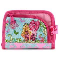 Barbie pénztárca, rózsaszín, Mariposa baba motívummal