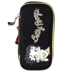 Betty Boop Školský peračník , elipsovitý, čierno-zlatý