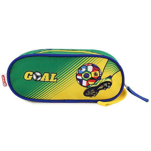 Goal Školní penál , elipsovitý, zeleno-žlutý