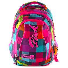 Pink Plecak studencki 2w1 Różowy, Plecak Rainbow (2 w 1)