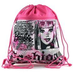 Barbie Torba sportowa , różowo-czarny, motyw gazety