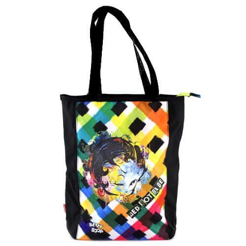 Betty Boop Taška cez plece , čierna s farebným motívom