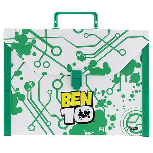 Ben 10 Kovček , velikost A4, zelena / bela, plastika