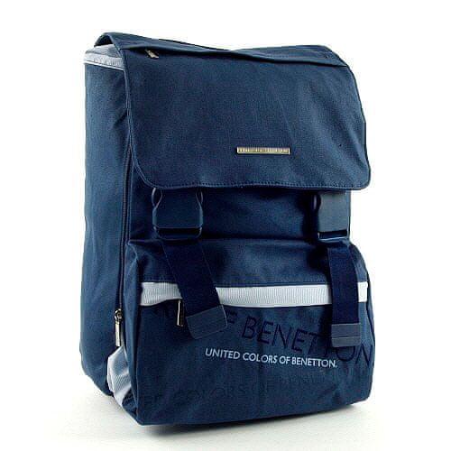 Benetton Školní batoh , na přezky modrá
