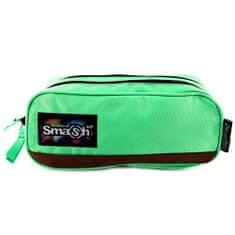 Smash Šolska škatla za svinčnike brez polnila, zelena, 2 žepa