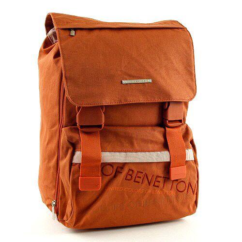 Benetton Školní batoh , na přezky oranžová