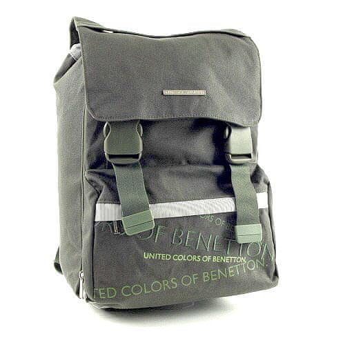Benetton Školní batoh , na přezky zelená