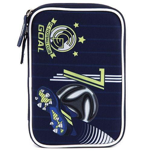Goal Piórnik szkolny z wypełnieniem docelowym, Bramka, ciemnoniebieski kolor