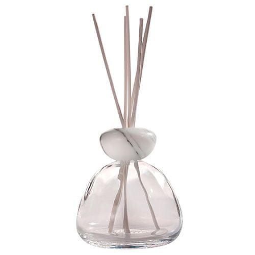 Millefiori Milano üveg diffúzor, Air Design, átlátszó üveg / fehér márvány teteje