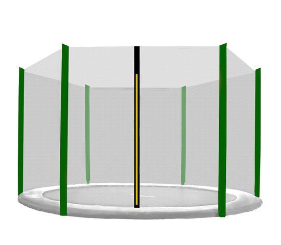 Aga Siatka do trampoliny 400cm 13ft zewnętrzna na 6 słupków Black net / Dark Green
