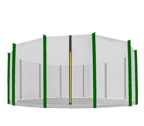 Aga védőháló 488 cm trambulinra 12 rudas Black net / Dark Green