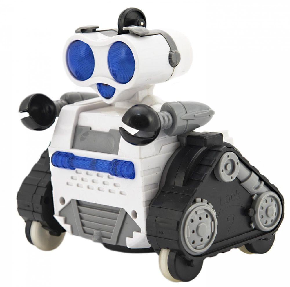 Teddies Robot RC plast pásový na dálkové ovládání s koulí - zánovní