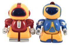 Teddies mini roboti RC borci, 2 kosa, plastika, 8 cm, baterije, svetloba