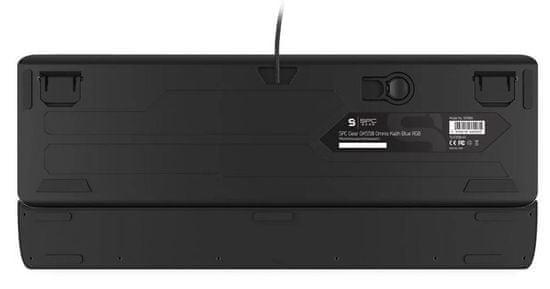 SilentiumPC gamerska tipkovnica Gear GK550 Omnis, Kailh Blue, US (SPG016)