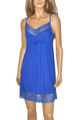 De Lafense Noční košile De Lafense 348 Estelle modrofialová L