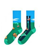 More Pánské vzorované nepárové ponožky More 079 tmavě zelená 43-46