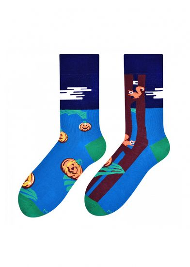 More Pánské vzorované nepárové ponožky More 079