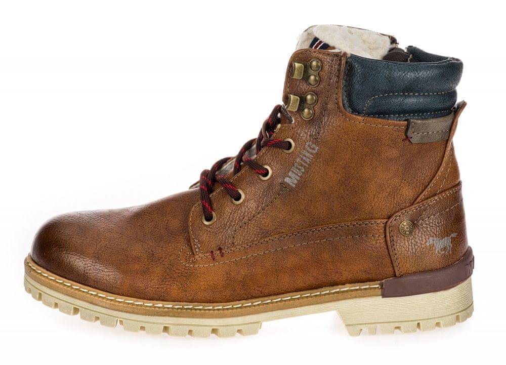 Mustang pánská kotníčková obuv 4142602 43 hnědá
