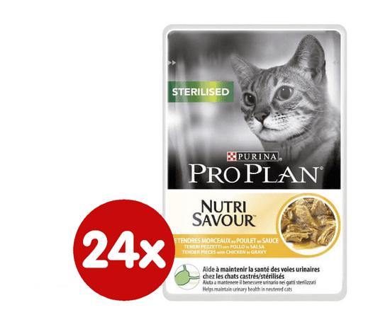 Purina Pro Plan mokra hrana za sterilizirane mačke, piščanec, 24x85g